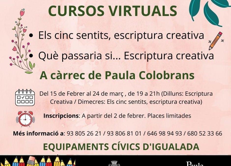 Cursos d'escriptura Creativa al febrer i març (virtual)
