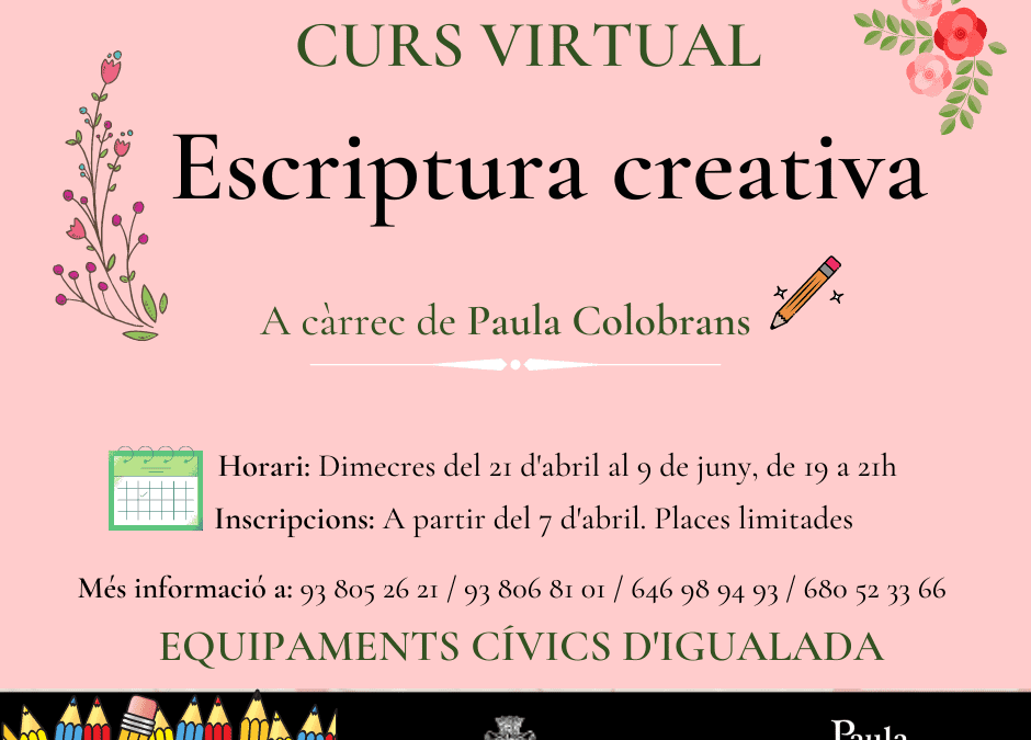 Escriptura Creativa a la primavera (virtual)